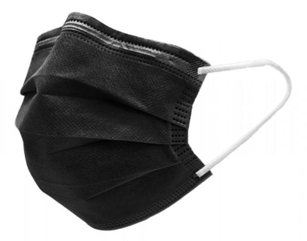 Schutzmaske med 3-lag schwarz